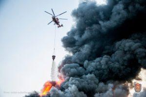 Пожар, который журналисты назвали «крупнейшим в истории современной России» был полностью локализован утром, 9 октября. Фото: Главное управления МЧС по Московской области