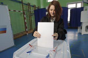 Организация процедуры выборов на избирательных участках, расположенных в районе Хамовники, прошла на высоком уровне. Фото: Пелагия Замятина, «Вечерняя Москва»