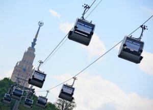 Канатную дорогу до «Лужников» планируют запустят до конца 2018 года. Фото: Александр Кожохин, «Вечерняя Москва»