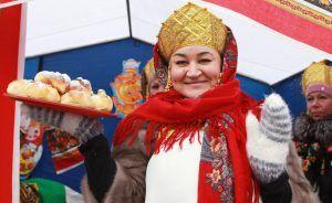Празднование Масленицы прошло в центре соцобслуживания района. Фото: Наталия Нечаева, «Вечерняя Москва»