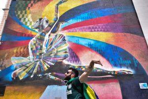 """Депутат МГД: Стрит-арт может быть не только стихийным искусством, но и решать социальные задачи. Фото: Пелагия Замятина, """"Вечерняя Москва"""""""