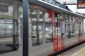 Пассажиропоток в выходные увеличился на станции МЦК «Лужники». Фото: Анна Быкова